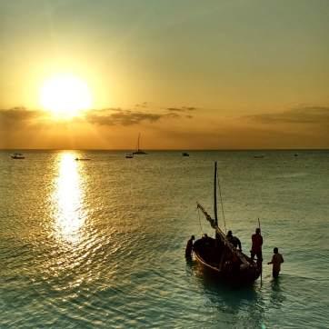Sunset on Zanzibar