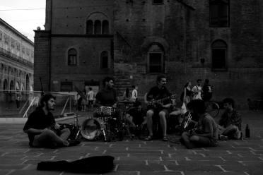 Muscicians in the square