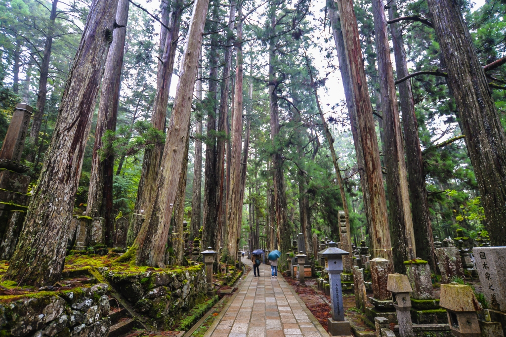 The atmospheric Okunoin cemetery in Mt Koya which holds the remains of over 200,000 people is one of the most scared spots in Japan